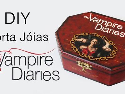 DIY: Como Fazer Porta Jóias Vampire Diaries (Tutorial de Flocagem em MDF)
