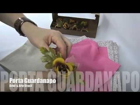 Porta Guardanapo Argola de Madeira com Flores