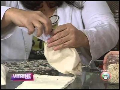 Aprenda a fazer almofada térmica de artesanato para aliviar dores (23.07)