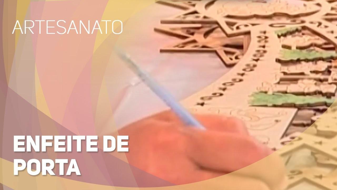 Artesanato - Enfeite de porta (25.11.2014)