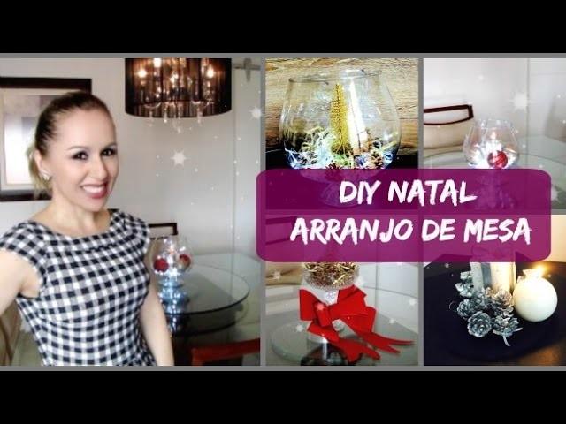 DIY- 4 Arranjos Fáceis e Baratos para Ceia de Natal