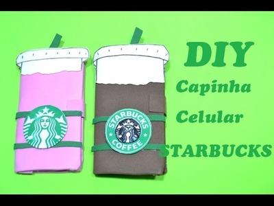 DIY Capinha de celular feita com caixa de leite (Starbucks)