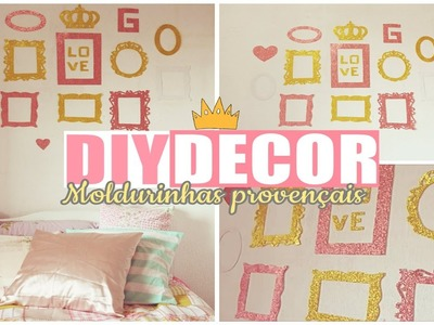 DIY DECOR| Moldurinhas de E.V.A ( gliter, yeah ! ) ♥