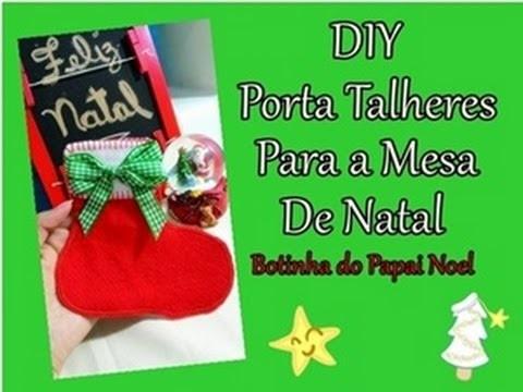 DIY :: Porta Talheres para a mesa de Natal (Bota do Papai Noel)