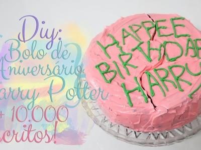 DIY: Bolo de aniversário do Harry Potter! + comemoração de 10 mil inscritos - Cozinha Geek