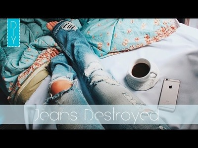 DIY: Jeans Destroyed ❥ ✄