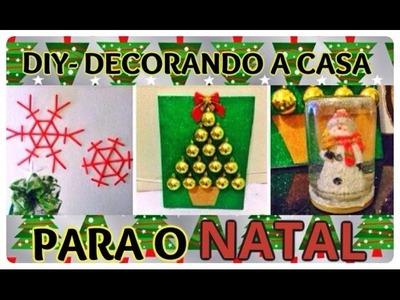 DIY- DECORE SUA CASA PARA O NATAL! (faça você mesmo)❤️