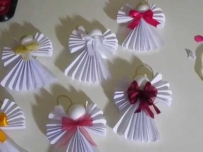 Anjos de papel diy