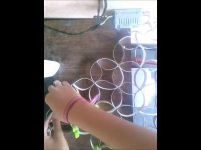 Artesanato - Quadro com Rolo de papel higiênico