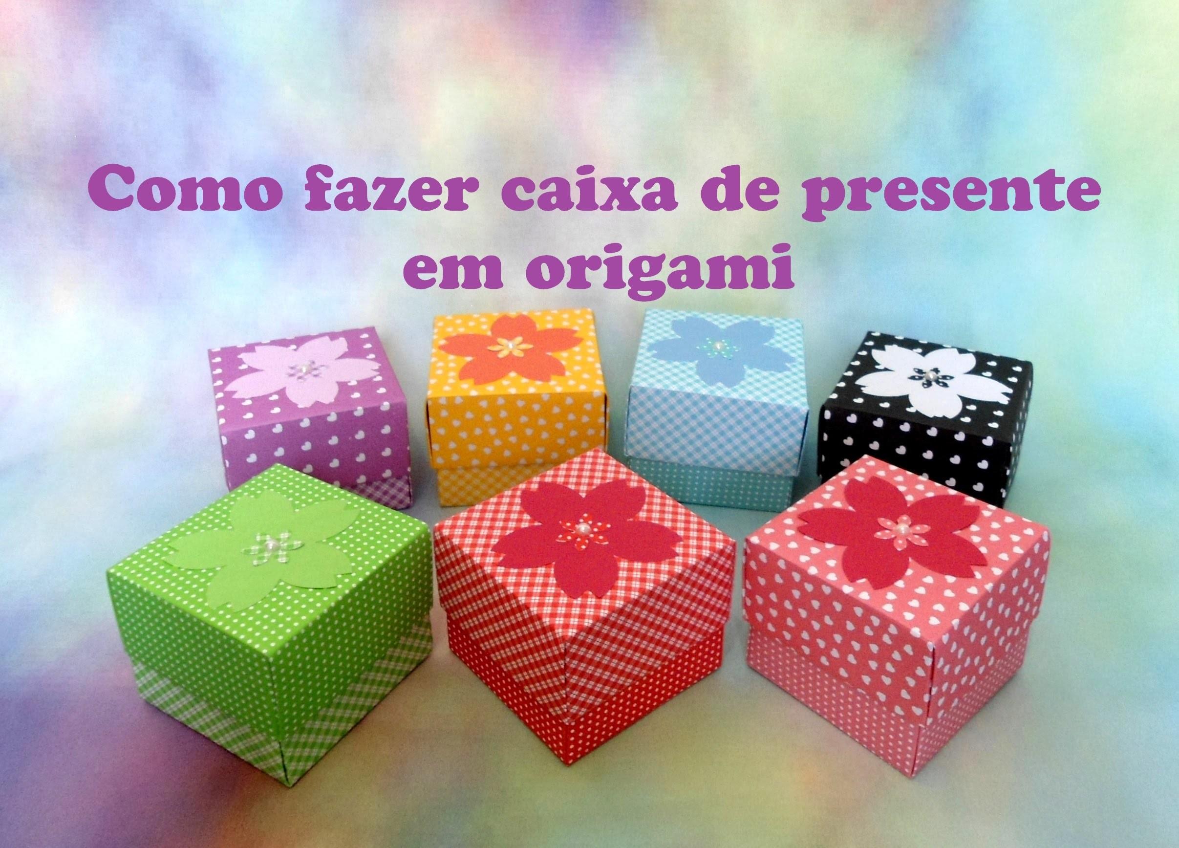 COMO FAZER CAIXA DE PRESENTE DE ORIGAMI My Crafts and DIY Projects #446D18 2413x1735
