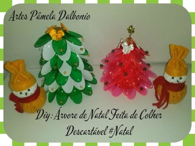 Diy: Árvore de Natal Feita de Colher Descartável #Natal