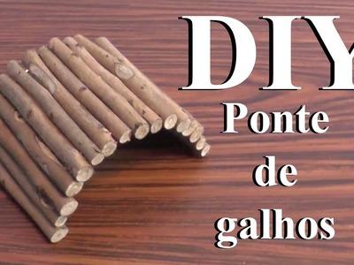 DIY: Brinquedos para Hamster -Ponte de Galhos- ( DIY Hamster Toys -Wooden Bridge- )