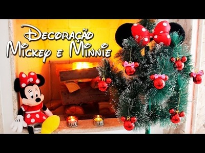 DIY - Enfeites de Natal - Mickey e Minnie