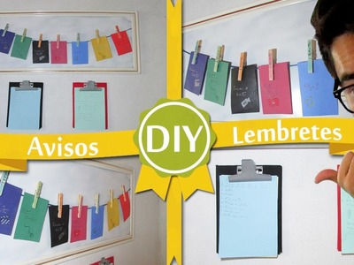 DIY Painel de avisos e recados - Faça você mesmo