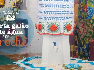 DIY - Porta galão de água em crochê (Diane Gonçalves)