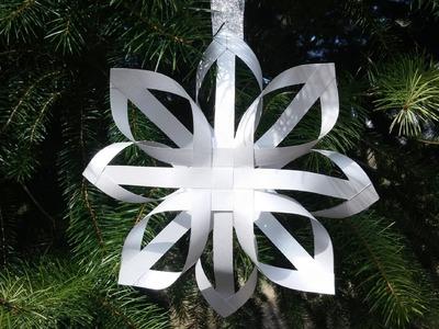 Floco de neve de papel 3D - DIY - 3D snowflakes
