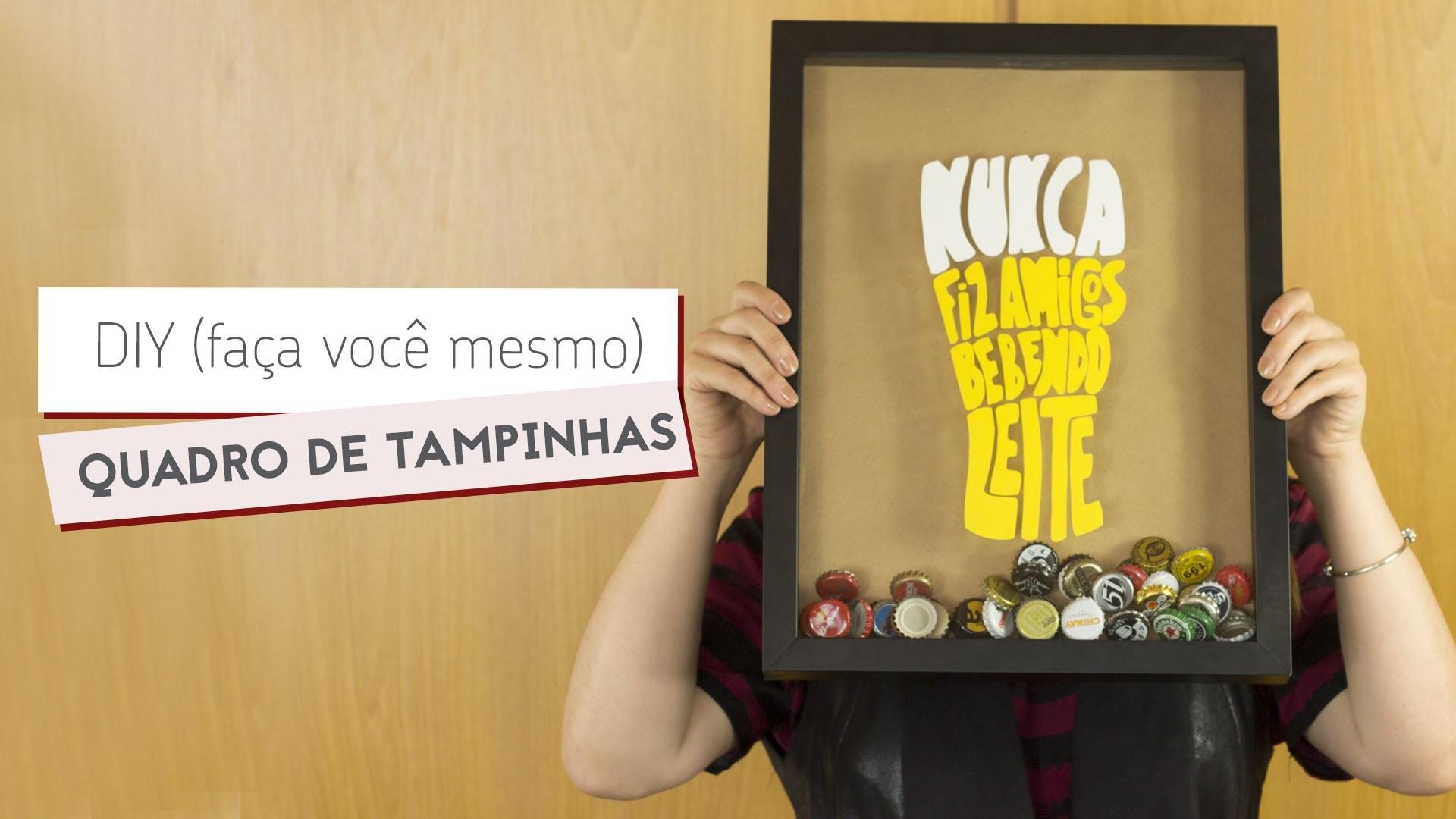 DIY: quadro de tampinhas {para decorar ou presentear} | Drops das Dez