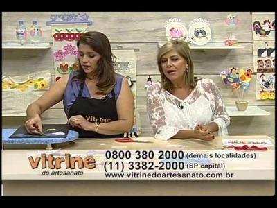 Aplicação de barrado em MDF com Isamara Custódio - Vitrine do Artesanato na TV