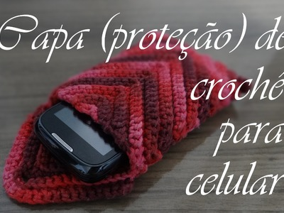 Capa (proteção) de crochê para celular | Passo-a-passo