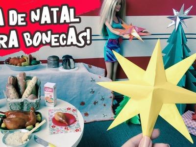 Como fazer Estrela de Natal para Barbie e outras bonecas - DIY