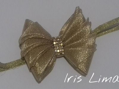 Como fazer laço mil faces parte 2  Diy ,Tutorial ,Pap By Iris Lima How To Make a Hair Bow