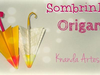 Como fazer sombrinha de papel - Passo a passo - Origami Umbrella