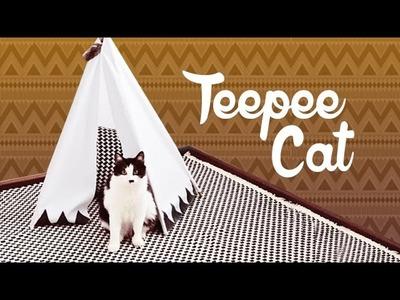 DIY. Aprenda a fazer uma Teepee Cat