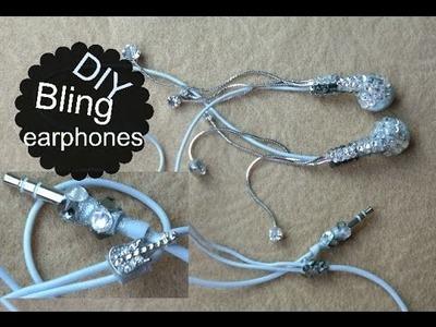 DIY Bling earphones. Fones De Ouvido Com Brinco - Ostentação