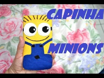 DIY Capinha de celular feita com caixa de leite( minions)