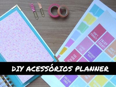 DIY | Como fazer acessórios para sua planner\agenda (adesivos, marcador, envelope)