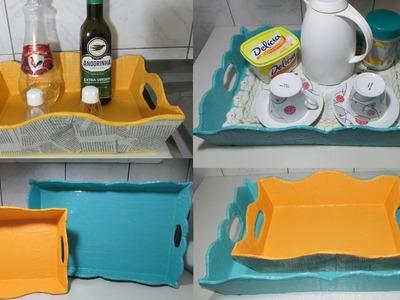 DIY - Como fazer bandeja de papelão!