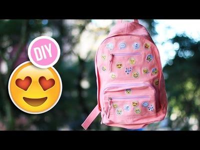 DIY: Como fazer mochila de emoji | Customizando mochila