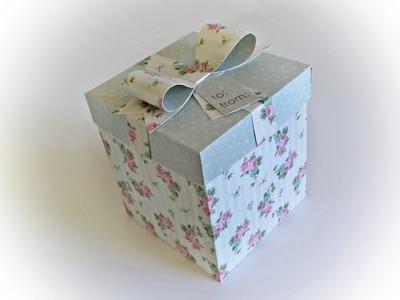 DIY | Como Fazer uma Caixa para Presente - Gift Box