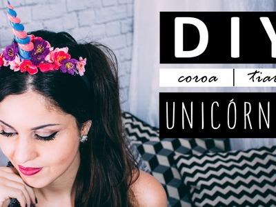 DIY Coroa tiara Chifre de Unicórnio | Unicorn Headband