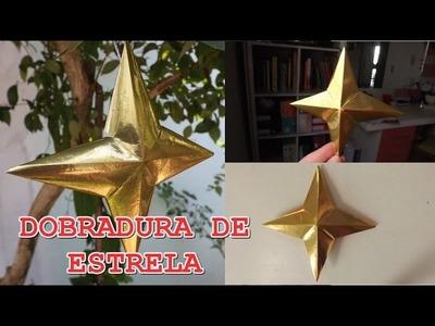 DIY: Dobradura de estrela SIMPLES. decoração de natal
