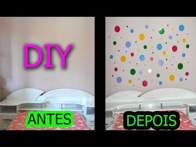 DIY- Faça Você Mesma: Parede Decorada Com Papel Contact - Jéssica Rayane