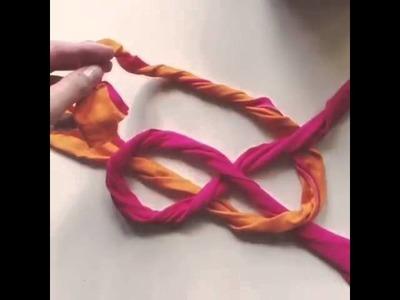 DIY - Faixa de cabelo com retalho de tecido.