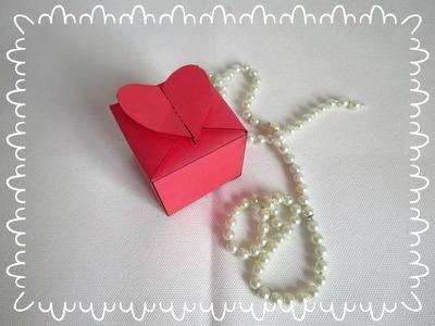 DIY - Lembrancinha Caixa Coração