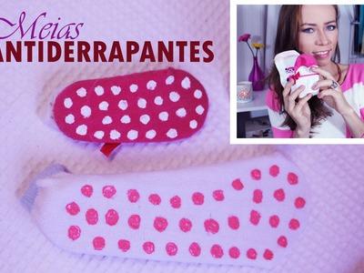 DIY: Meias ANTIDERRAPANTES  para o seu bebê ♥ | #PapoDeMãe ♥