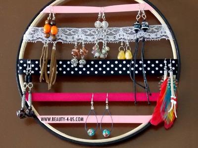 DIY: Organizador de Brincos por Renata Nicolau