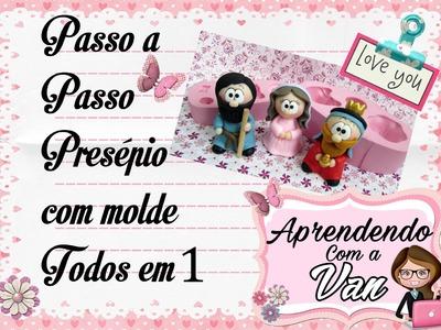 (DIY) PASSO A PASSO PRESÉPIO COM MOLDE TODOS EM 1 PARTE #1