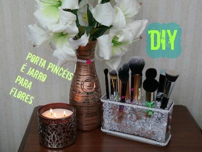 """""""DIY"""" Porta Pincéis é Jarro para flores---FGBMYWAY."""