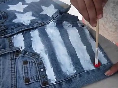 DIY: Short jeans customizado, bandeira USA.