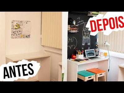 DIY: Transforme seu cantinho com parede preta para giz!