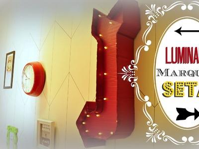 LUMINÁRIA LETRA 3D CAIXA (Marquee Lamp Seta) D.I.Y. | #POCFazendoArte Ep. 21