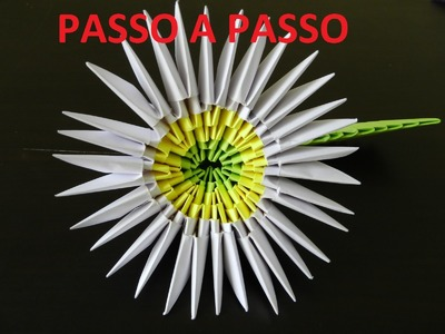 Passo a passo video dobradura flor margarida 3d origami tutorial