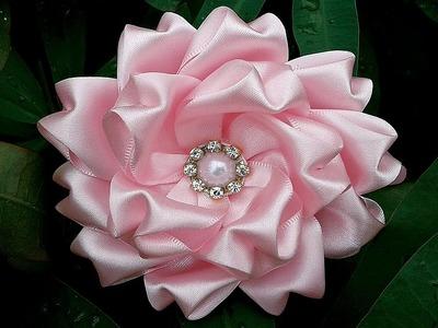Tiara com flor de cetim DIY PAP