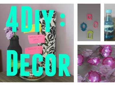 4 DIY : Decoração para o quarto gastando POUCO +DICAS de organização