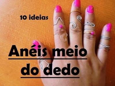 Anéis de meio do dedo - 10 maneiras (Tutorial)