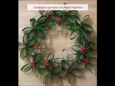 Artesanato de Natal em 30 segundos, Guirlanda de natal - Episódio 01